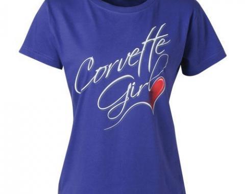 Corvette Girl Heart Tee
