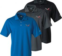 Corvette C7  Polo Shirt, Men's, Nike Dri-Fit, Grand Sport Emblem