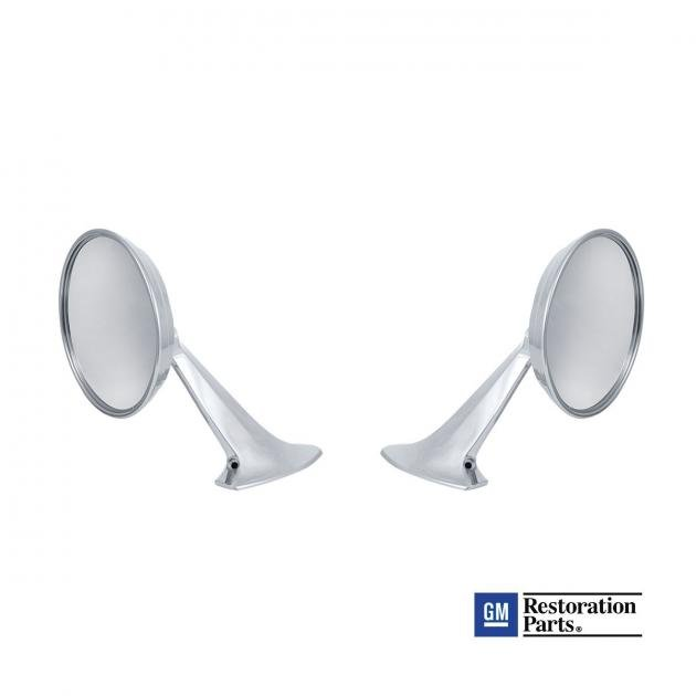 United Pacific 110745 Exterior Mirror Bundle for 1955-57 Chevy Passenger Car