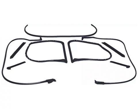 Corvette Coupe Body Weatherstrip Kit, 9 Piece, USA Made, 1977 Late