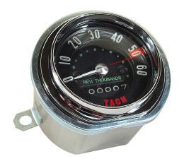 Corvette Tachometer, Generator Drive, 6000 RPM, 1958