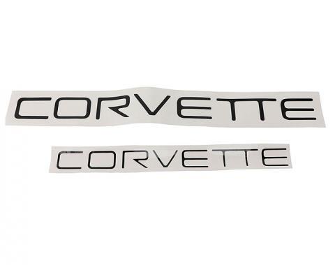 Corvette Corvette Lettering Kit, Black, 1991-1996