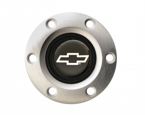 Volante S6 Series Horn Button Kit, Silver Bowtie, Brushed