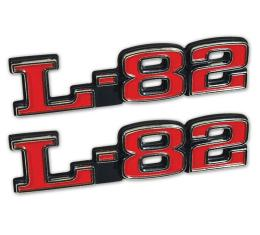 Trim Parts 75-79 Corvette Hood Emblem, L-82, Pair 5965