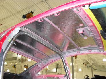 HushMat Nissan 350Z 2003-2009   Roof Thermal Insulation and Deadener 693505