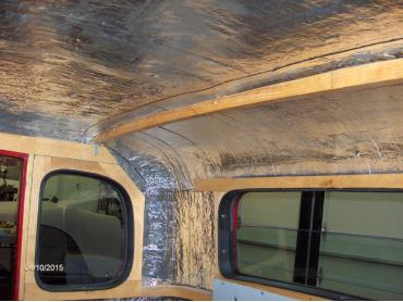 HushMat Jeep TJ 1997-2006   Roof Thermal Insulation and Deadener 665225