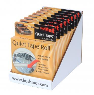 """HushMat Quiet Tape 8 Pack of Shop Roll - Each One 1"""" x20'x1mm Single Side Foam Tape ea 80300"""
