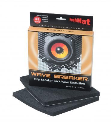 "HushMat Wave Breaker Kit - Contains 2- 8"" x 8"" ea Speaker Back Wave Deflecting Pads 82450"
