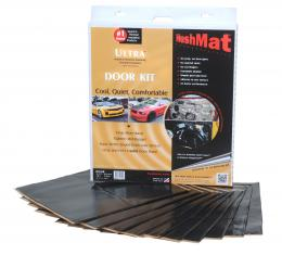 "HushMat Door Kit - Stealth Black Foil with Self-Adhesive Butyl-10 Sheets 12"" x 12"" ea 10 sq ft 10200"