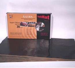 """HushMat Super Bulk Kit - Stealth Black Foil with Self-Adhesive Butyl-9 Sheets 18"""" x 32"""" ea 36 sq ft 10800"""