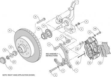 Wilwood Brakes Classic Series Dynalite Front Brake Kit 140-14663