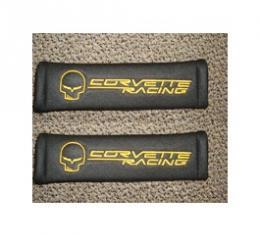 "Corvette Shoulder Belt Pads, ""Jake/Corvette Racing"" Logo"