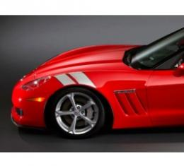 Corvette C6 Fender Accent Stripes, Red, 2006-2013