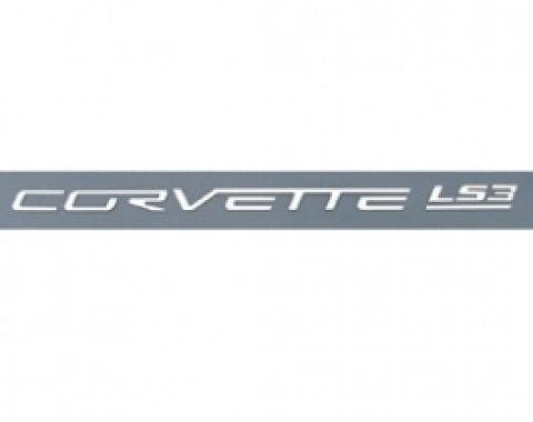 Corvette Fuel Rail Letter Set, LS3, Ultra Chrome, 2008-2013