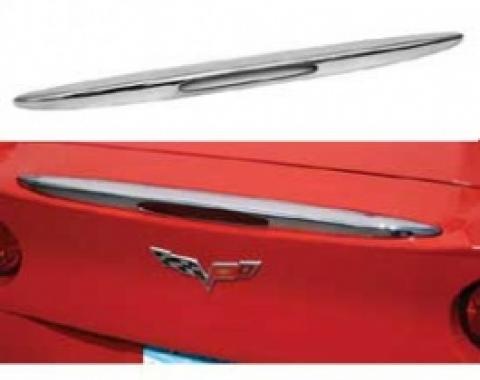 Corvette Rear Bumper Spoiler, Chrome, 2005-2013