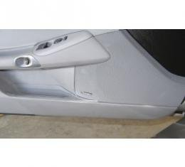 Corvette Lower Inner Door Panel, Guards, Front, Clear, Door Kickers, 2005-2013