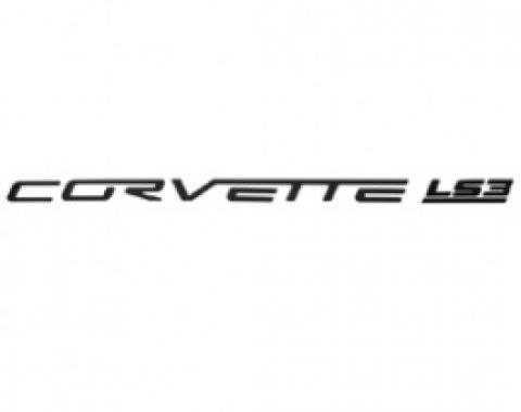 Corvette Fuel Rail Letter Set, LS3, Gloss Black, 2008-2013