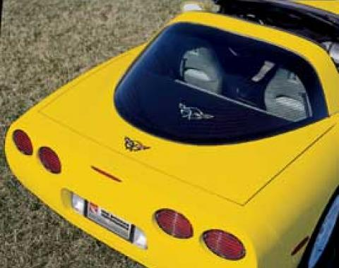 Corvette Rear Cargo Shade, With Embroidered C5 Logo, 1997-2004