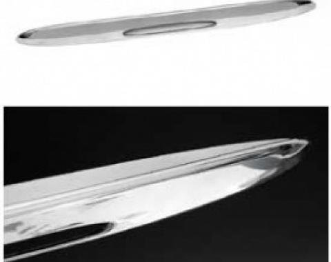 Corvette Rear Bumper Spoiler, Tall Style, Chrome, 2005-2013