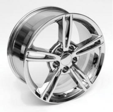 "Corvette Wheels, C6 Z06 Style, ""Y"" Spoke, Chrome, Reproduction, 1997-2004"