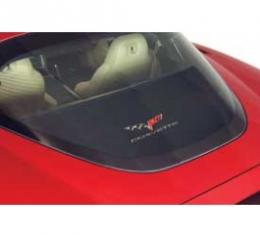 Corvette Rear Cargo Shade, With Embroidered C6 Logo, 2005-2013