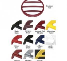 Corvette Taillight Louvers, Phantom, Painted In Factory Colors, Altec, Daytona Sunset Orange Metallic, 2005-2006
