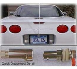 Corvette CB NGP Antenna System, With Quick Disconnect & Black Antenna Mast, 1997-2004