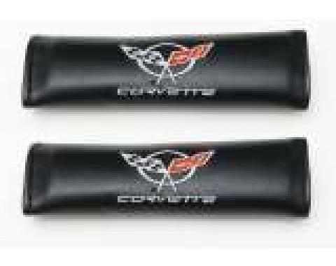 Corvette Shoulder Belt Pads, With C5 Logo