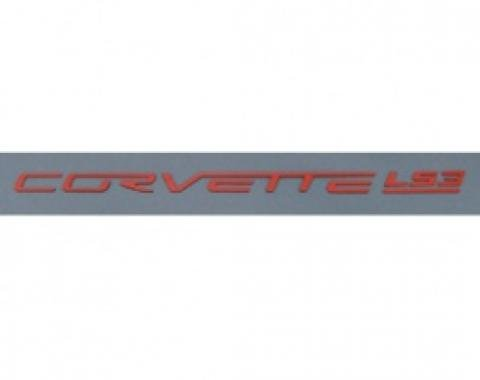 Corvette Fuel Rail Letter Set, LS3, Gloss Red, 2008-2013