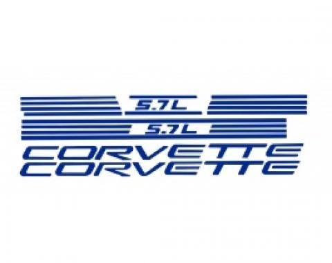 Corvette Fuel Rail Cover Letter Kit, 1997-1998