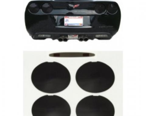 Corvette Black-Out Kit, Tail & Brake Lights, Smoke Black, Rear, 2005-2013