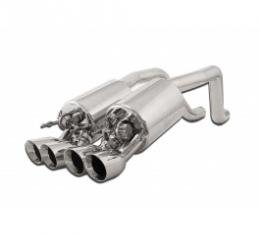 Corvette Exhaust System, With Quad Round Tips, Fusion, For Cars With NPP, B&B, 2008