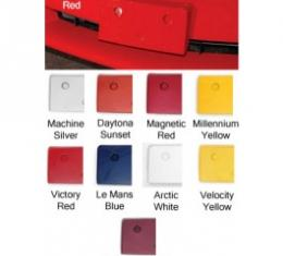 Corvette Front License Plate Holder, Painted In Factory Colors, Victory Red, 2005-2009