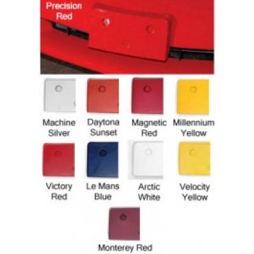 Corvette Front License Plate Holder, Painted In Factory Colors, Velocity Yellow, 2005-2012