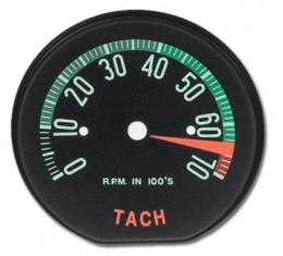 Corvette Tachometer Face, 6500 RPM (60 Late to 61 Early), 1960-1961