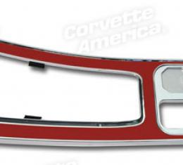 Corvette Center Console, Red with Power Window, 1965-1967