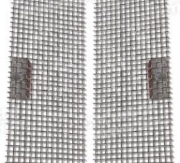 Corvette Side Fender Styling Screens, Stainless Steel, 1997-2004