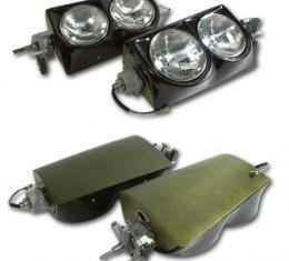 Corvette Headlight Assembly, Left & Right, 1963-1967