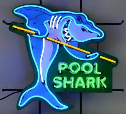 Neonetics Standard Size Neon Signs, Pool Shark Neon Sign with Backing