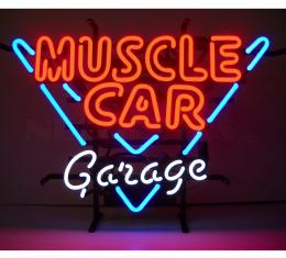 Neonetics Standard Size Neon Signs, Muscle Car Garage Neon Sign