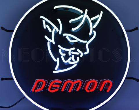 Neonetics Standard Size Neon Signs, Dodge Demon Neon Sign