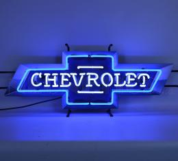Neonetics Standard Size Neon Signs, Chevrolet Bowtie Neon Sign with Backing