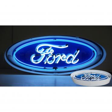 Neonetics Standard Size Neon Signs, Ford Oval Neon Sign in Metal Can