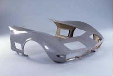 Corvette Door To Door Front End, Stock Design, Press Molded Jig Fit, 1970-1972