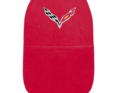 Seat Armour 2014-2018 Corvette Konsole Cover™ with Pocket, Red,  KACORC7R