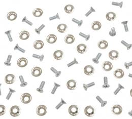 Corvette Convertible Top Pad to Frame Screw & Washer Kit, 1956-1962