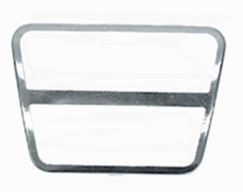 Corvette Brake or Clutch Pad Trim, Stainless Steel, 1968-1979