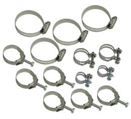 Corvette Hose Clamp Kit, 454 without Air Conditioning, 1970