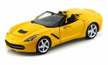 Corvette 2014 Convertible Yellow 1/24 Diecast