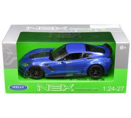 Welly 1:24 W/B - 2017 Chevrolet Corvette Z06 (Blue)